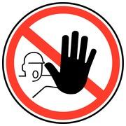 Autocollant - carte 10 pièces - interdiction