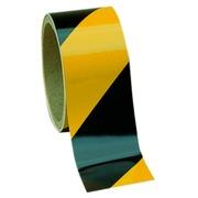 Zelfklevende vloertape op rol duurzaam gestreept geel/zwart