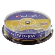 Spindle 10 DVD+RW Verbatim 4x