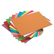 Pack of 100 folders, assorted vivid colours