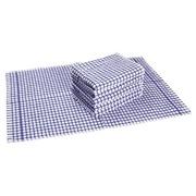 Pakket van 6 handdoeken met lusje Blauw