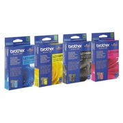 Pack of 4 Brother cartridges LC1100