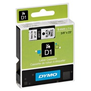 Dymo labels 9 mm black on transparent writing for Pocket/1000/2000/3500/5000/5500