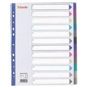Divider A4+ translucent coloured plastic 12 multi-coloured neutral divisions - 1 set