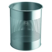 Decorative metal waste paper basket Durable - silver