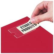 Porte-étiquettes adhésif 75 x 46 mm 3L transparent - Boîte de 60