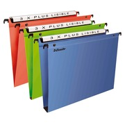 Suspension files for drawers 33 cm polypropylene, bottom 30 mm, assorted colours