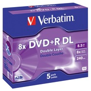 DVD+R dubbel gelaagd Verbatim 8x
