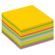 Bloc cube multicouleurs Post-It 76 x 76 mm - bloc de 450 feuilles.