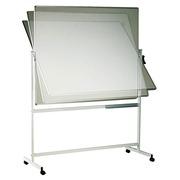 Tableau blanc émaillé pivotant sur pied mobile L 150 x H 120 cm
