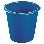 Round bucket 10 litres, blue