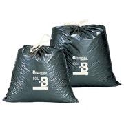 Grijze vuilniszakken met sluitlint Bruneau 50 liter - pak van 100