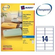Pack 350 Adressetikette Avery J 8563 99,1 x 38,1 mm für Tintenstrahldrucker