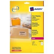 Etiquettes adresses laser 99,1 x 67,7 mm Avery L7565-25 transparentes - Pochette de 200