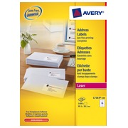 Doos 1400 adresetiketten Avery L 7163 wit 99,1 x 38,1 mm voor adresetiketten