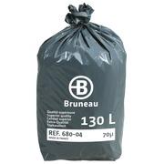 Sac poubelle 130 litres qualité supérieure Bruneau - 200 sacs