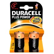 Alkalinebatterijen C LR14 Duracell Plus Power blister van 4.