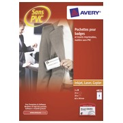 Doos 20 badges Avery zonder clip 60 x 90 mm
