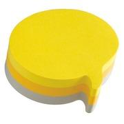 Bloc 225 sheets 3 colours Post It fantasy text balloon70 x 70 mm