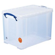 Plastic storage box 19 L Really Useful Box uncoloured