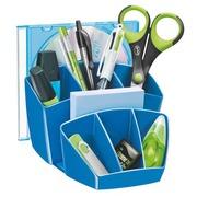 Multipots et organiseur de bureau plastique Cep Gloss bleu