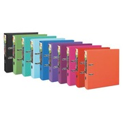 Plastic lever arch file Exacompta Prem Touch A4+ back 8 cm assorted colours