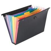 Suspension signature file for drawers in opaque polypropylene Rainbow Viquel 6 divisions black