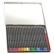 Box with 24 colour pencils assortment with aquarelle effect