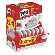 Pack de 12 + 4 correcteurs à sec compact Pritt largeur 4,2 mm longueur 10 m