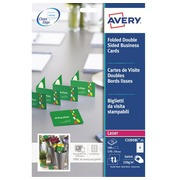 Carte de visite double premium Avery