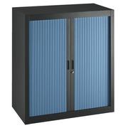 Armoire à rideaux démontables Economique 100x 90 cm noir-bleu