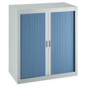 Demonteerbare rolluikkast Budget H 100 cm x B 90 cm grijs - blauw