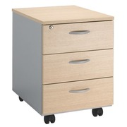Mobile cabinet Squadra 3 drawers white