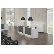 Straight reception desk Jana white/anthracite W 366 cm