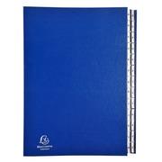 Ordnungsmappe mit festem Deckel und dehnbarem Faltenrücken, 26 Fächer mit Kunststofftaben A-Z, Ordonator, für Format DIN A4 - Blau (621229E)