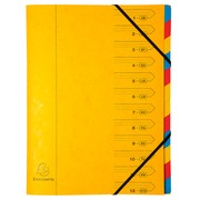 Exacompta Multipart file Pressboard 12 Part Red - Yellow (54129E)