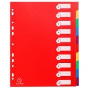 Dividers opaque semi rigid 10 part - A4 maxi
