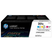 HP 201X, pack 3 toners high capacity colors