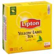 Box of 100 teabags Lipton Yellow