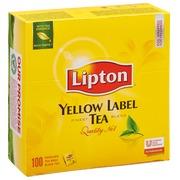 Doos 100 theezakjes Lipton Yellow
