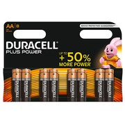 Alcaline battery AA LR6 Duracell Plus Power - Blister de 8