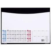 Onderlegger met kalender 55 x 40,5 cm zwart