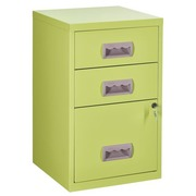 Monobloc filing cabinet Budget 3 drawers anise green