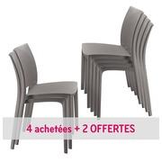 Pack chaises Elya 4 + 2 OFFERTES