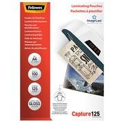 Boîte 100 pochettes de plastification A4 2 x 125 brillantes Fellowes