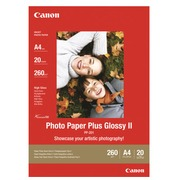 Canon Photo Paper Plus Glossy II PP-201 - papier photo - 20 feuille(s) - A4 - 275 g/m²