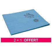 Pack 2 paquets lavettes MicronQuick microfibres bleu