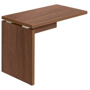 Suspension side desk Shiny W 100 x D 60 cm tabletop in walnut with full undercarriage in wood