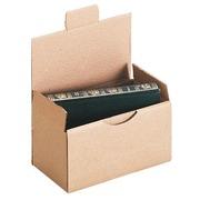 Boîte postale kraft brun simple cannelure H 10 x L 10 x P 20 cm