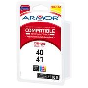 Pack cartouche Amor compatible Canon PG40-CL41 - 4 couleurs pour imprimante jet d'encre